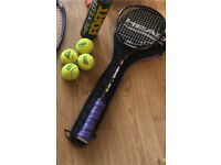 Head squash racket and cover