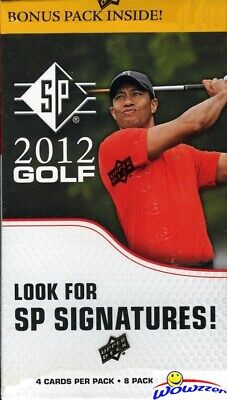 2012 Upper Deck SP GOLF Factory Sealed Blaster Box-Look for Tiger Woods AUTO !