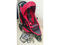 Phil & Teds Red/Grey Sport Double Pram / Pushchair