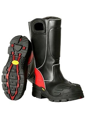 Fire-dex Fdxl-100 Red Leather Structural Fire Fighting Boots Bunker Boots New