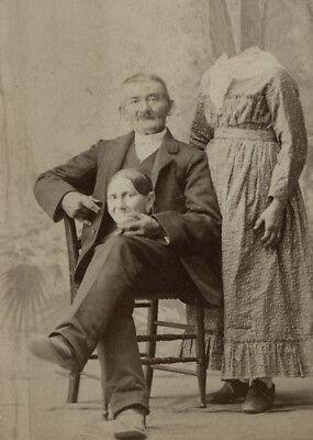 Antique Happy Man Photo 582 Bizarre Odd Strange