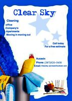 ClearSky cleaning  . Looking for more contracts