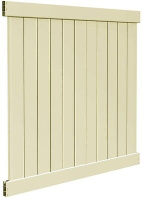 Privacy Vinyl Fence Panel Kit 6 x 6 FT Outdoor Garden Lawn Yard Backyard Fencing