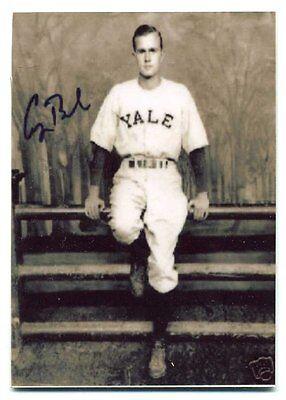 George Bush   Yale Metal Baseball Card   Republican President