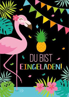 Einladungskarten Kindergeburtstag Mädchen Flamingo Einladungen