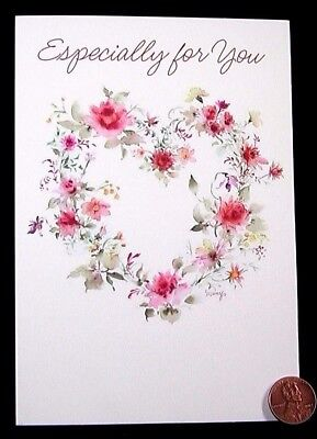 MARY HAMILTON  Heart Flowers Roses For You - Valentine's Day Greeting Card - NEW