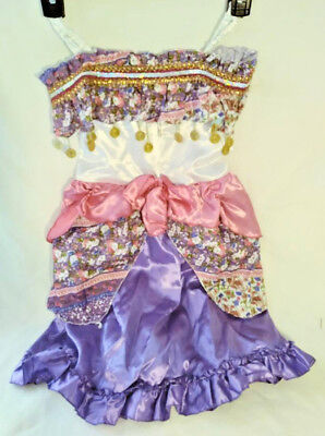GYPSY HALLOWEEN DRESS / COSTUME BY LIVING FICTION GIRLS SMALL FREE FAST SHIPPING