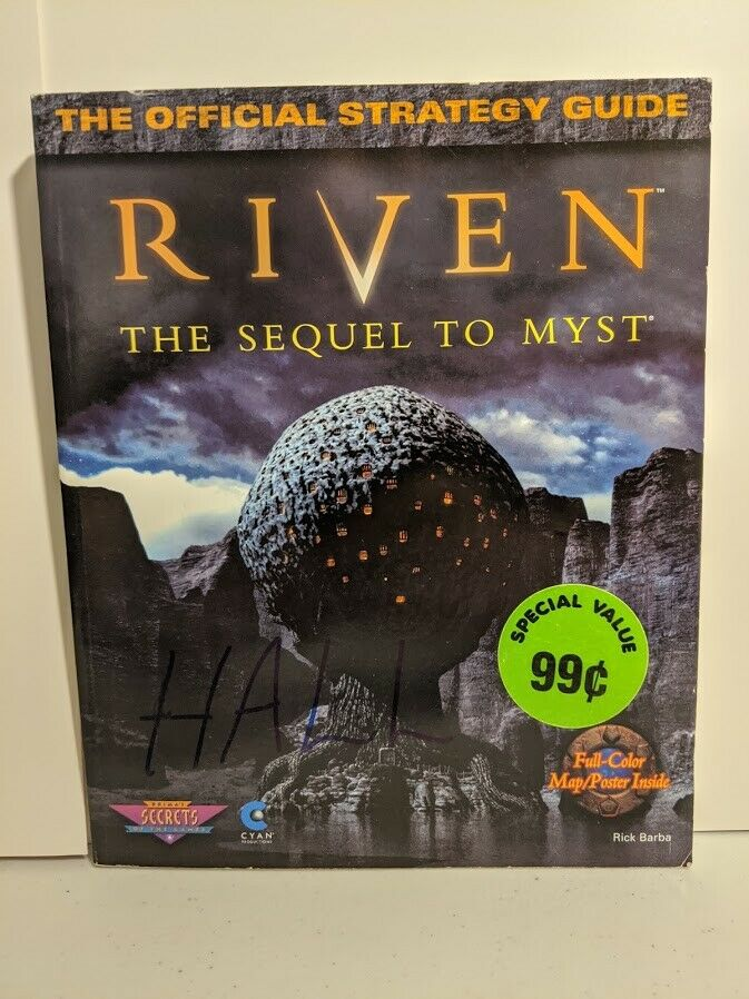 Riven The Sequel To Myst Strategy Guide Only PC, 1998 Includes Poster - $9.99