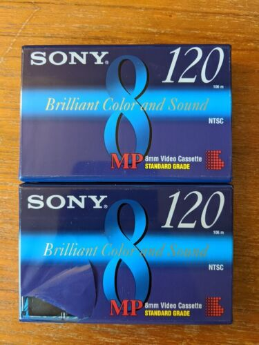 2 Sony MP120 Video Cassette Tapes | NEW