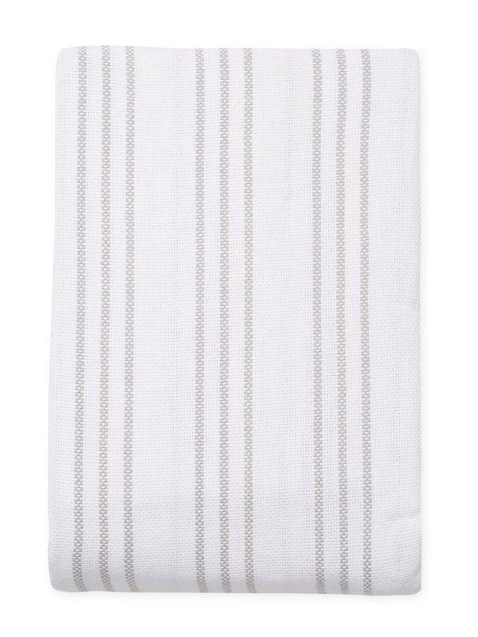 Melange Home King Size Yarn Dyed Triple Stripe Cotton Blanke