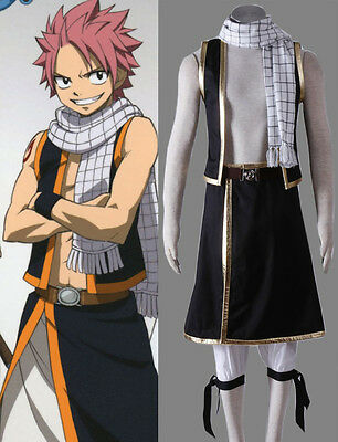 FAIRY TAIL Natsu Dragneel Cosplay Kostüm costume Kleidung Anime Cartoon - Anime Cosplay Kostüm Kinder