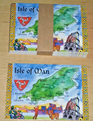 Tt Peel (BUNDLE OF 50 NEW ISLE OF MAN POSTCARDS. IoM MAP, TT, MANX CAT, GOLF, PEEL, LAXEY)