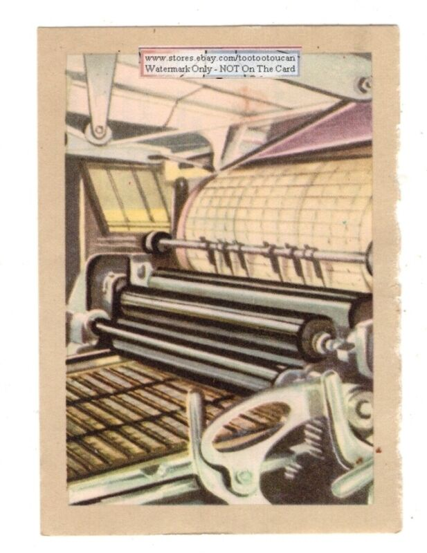 1950s Large Newspaper Printing Press Vintage Trade Ad Card
