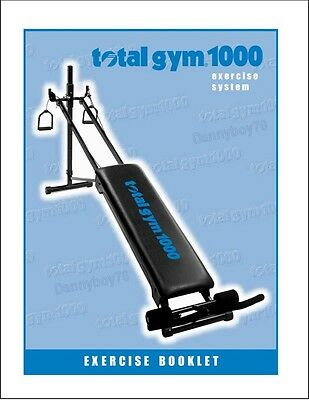 Total Gym Exercise Manual BOOKLET - for EVERY Total Gym! - Fast DIGITAL -