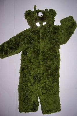 OLD NAVY GREEN FURRY 3 EYED MONSTER COSTUME 2T HALLOWEEN