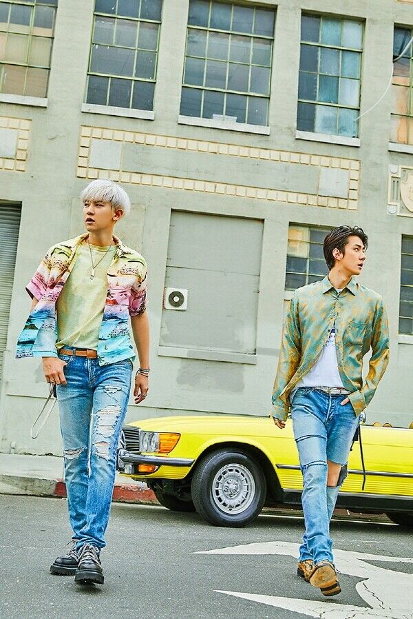 EXO-SC[What A Life]1st Unit Mini Album CD+2p Poster+Booklet+Card+Post+Tag+Gift