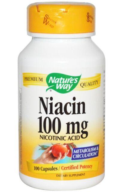 NEW NATURE'S WAY NIACIN VITAMIN B3 METABOLISM & CIRCULATION NICOTINIC ACID 100mg