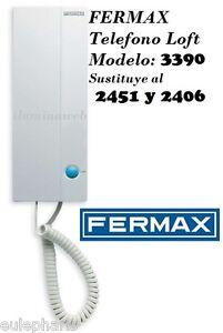 Telefono loft vds fermax 3390 2451 y 2406 telefonillo for Telefonillo fermax esquema
