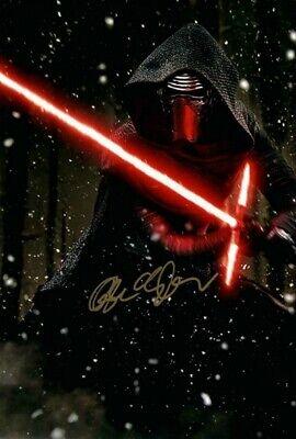 Adam Driver Kylo Ren Star Wars Film Movie Signed Autograph PRINT 6x4 GIFT