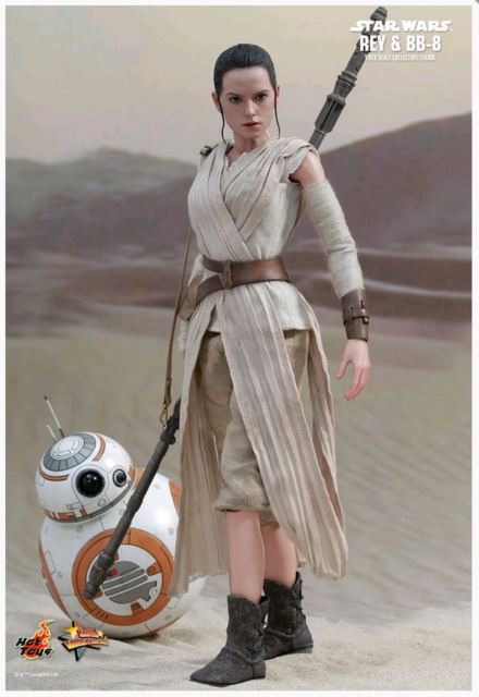 STAR WARS HOT TOYS REY & BB-8 1:6 SCALE ACTION FIGURE HOTMMS337