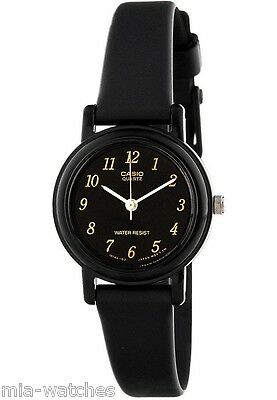 Casio Women's Black Resin Watch, Analog, Water Resistant, LQ139A-1
