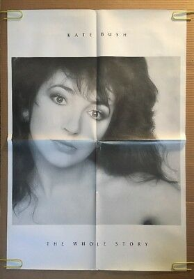 Kate Bush The Whole Story Vintage Poster Pin-up Music Memorabilia 1980's UK 80's
