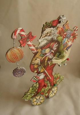 New Roman Victorian Die Cut Santa Claus Cardboard Standing Artisan Paper 34398