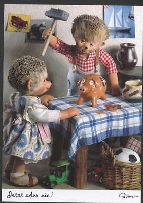 AK Mecki original Diehl Nr 562 Sparschwein Sparbüchse Spardose Geburtstag Kinder