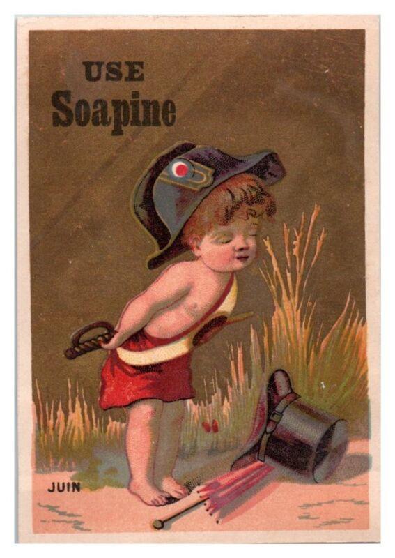 Juin Baby Use Soapine Soap Victorian Trade Card
