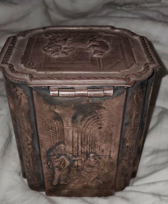 Vintage Sterling Silver England or Dutch Marriage box w hallmarks
