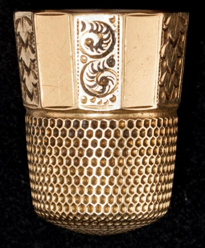 Antique 14kt Gold  Simons Brothers 14kt Thimble Size 10