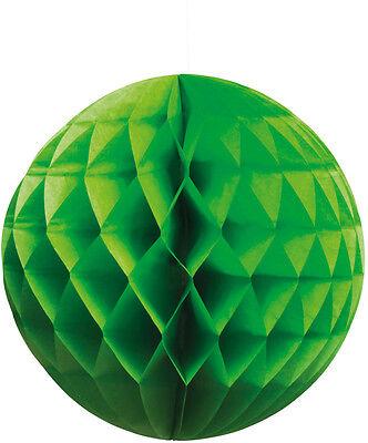 Wabenball Papier Laterne 25cm grün NEU - Partyartikel Dekoration Karneval Faschi