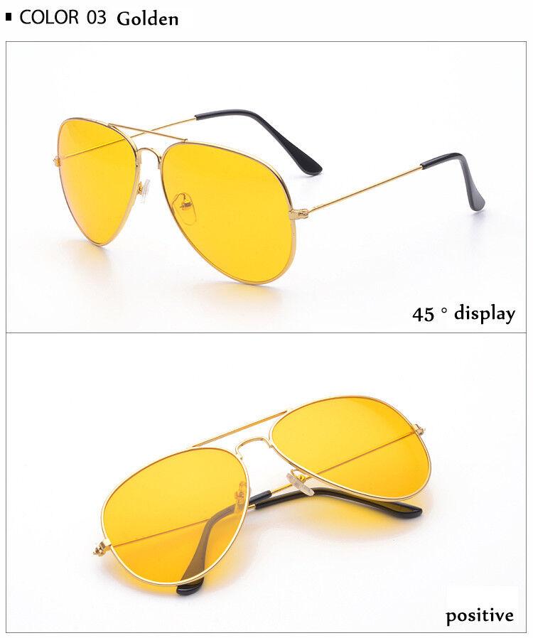 Night Driving Glasses HD Anti Glare Vision Polarised Yellow Lens Tinted Pilot