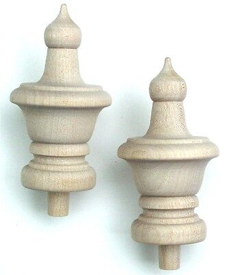 """Wood Finial Turning Pack of 2    Size  3"""" High"""