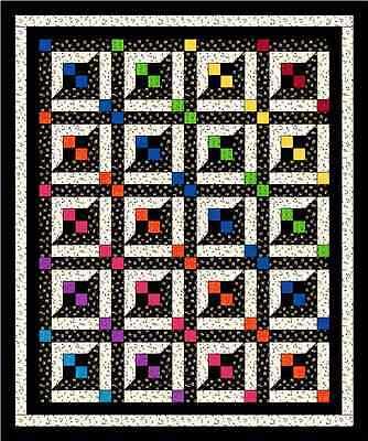 Lattice Windows Quilt Pattern Baby Crib Twin Queen Easy Scrappy NEW  #425 - Lattice Quilt Pattern
