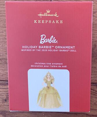 NEW 2020 Hallmark Keepsake Barbie 2020 Holiday Barbie Ornament