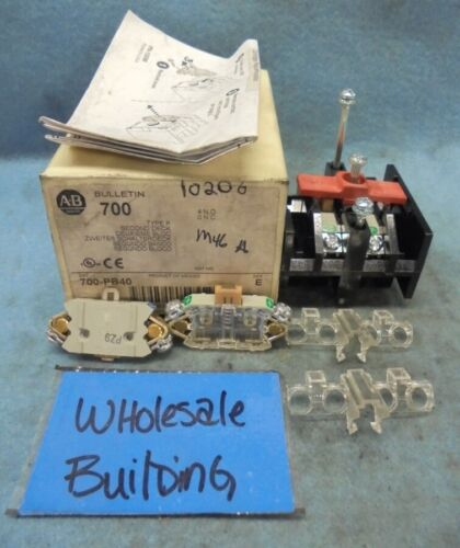 A-B ALLEN BRADLEY 700-PB40 AUXILIARY CONTACT SECOND DECK, 4 N.O., 10 AMPS