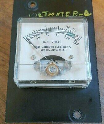 Vintage Westinghouse Electric Corp. Volt Panel Meter 0-150 Volts D.c.
