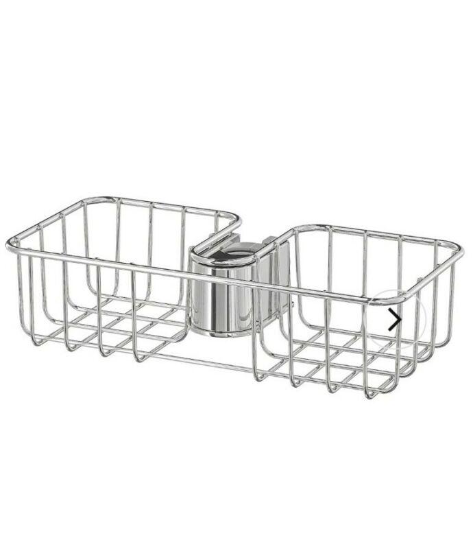 Ikea Voxnan Shower Shelf Caddy Chrome Plated Shower Organizer New