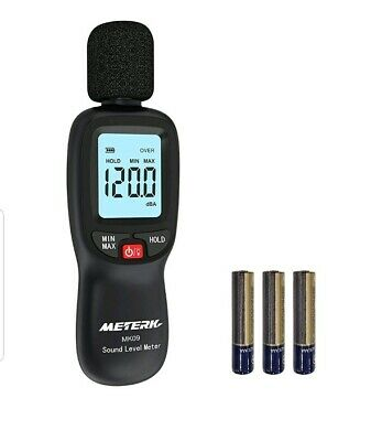 Meterk Digital Sound Level Meter Range 30-130dba Decibel Meter Noise Volume