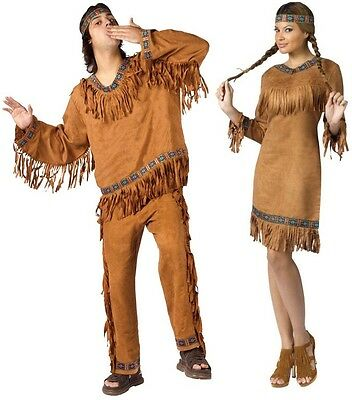 Couples American Indian Man Woman Adult Costume Native Tribe Cosplay Halloween - Couple Cosplay Costumes