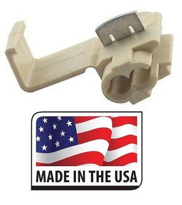 50 Quick Splice Scotch Locks Connector 18-14 Tan Electrical Terminal Made In Usa