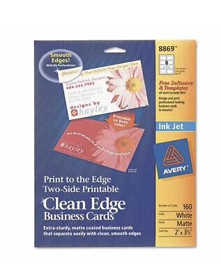 Avery Inkjet Matte Business Cards 2 X 3 12 White 8sheet 160pack