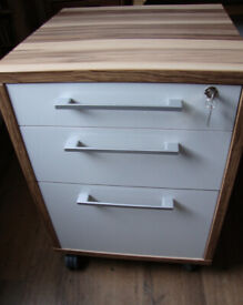 File Cabinet mod. Prima 3 Drawer - wide A4 - Oak & High Gloss White - £20 GC