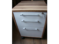 File Cabinet mod. Prima 3 Drawer - wide A4 - Oak & High Gloss White - £20 GC