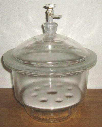 "Glass desiccator vacuum jar lab dessicator dry 12"" New"