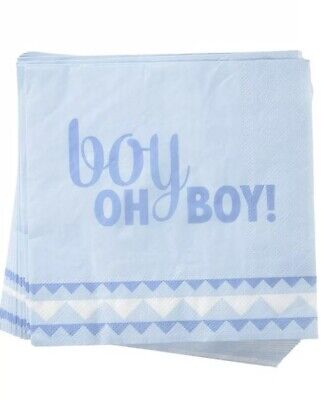 20-Pack - Boy Oh Boy Lunch Napkins Baby Shower 3-ply Tableware Baby Shower Lunch Napkins