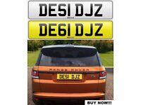 DESI DJ'Z cherished private personalised number plate car reg. DE61 DJZ