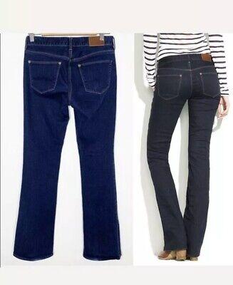 Stretch Denim Boot Flare Leggings - Madewell Dark Blue Denim Boot Legged Flare Leg Fit Stretch Low Rise Jeans 26 32