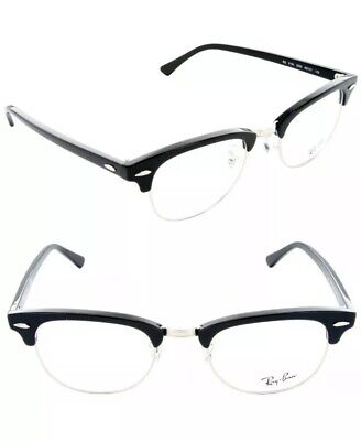 NEW Ray Ban Clubmaster Eyeglasses RB5154 2000 51mm Black SILVER 51-21-145 (Ray-ban Rx5154 Clubmaster Eyeglasses)